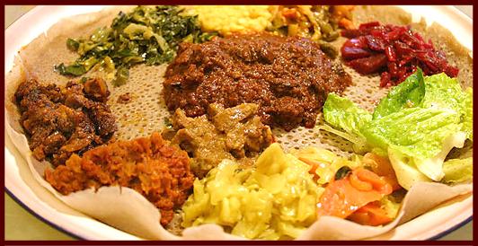 Sengatera Ethiopian Restaurant Menu